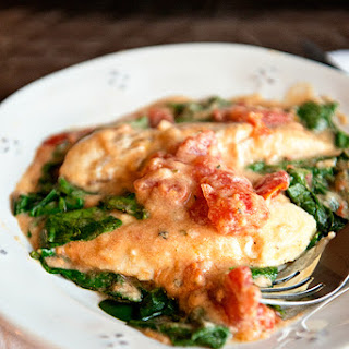 Saucy Chicken and Spinach