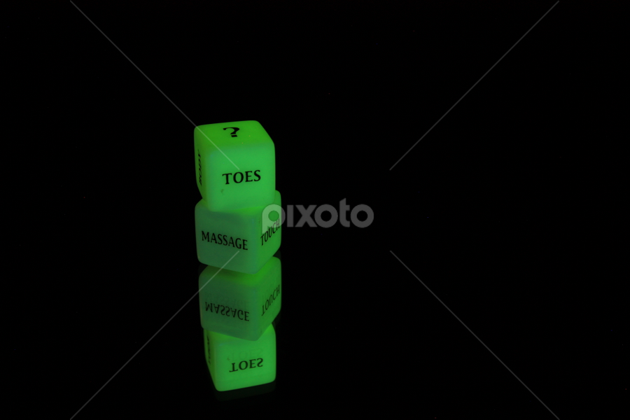 Pleasure Dice by Giancarlo Ferraro - Products & Objects Signs ( dice, green, fun, glow )