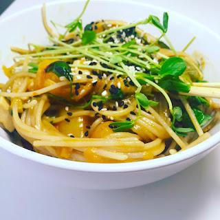 Vegan Coconut Green Curry Pad Thai