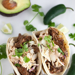Slow Cooker Barbacoa Tacos with Chipotle Slaw Recipe