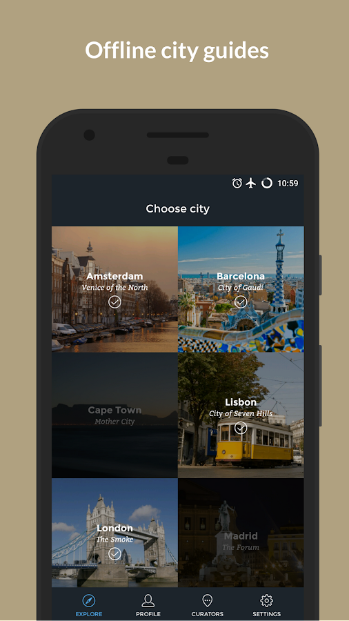10things - city guides: screenshot