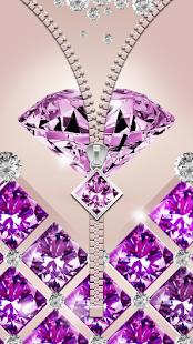 Diamanty Zip Zamek Obrazovky - náhled