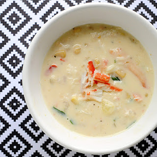 Crab & Shrimp Corn Soup – Under 300 Calories Per Serving!