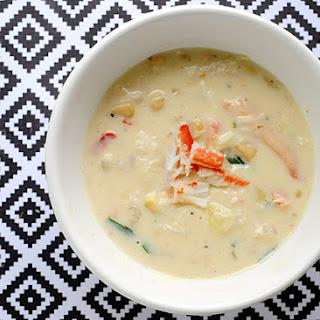 Crab & Shrimp Corn Soup – Under 300 Calories Per Serving!.