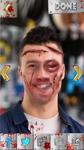 Scar Face Photo Editor - Fake Bruises Stickers - náhled
