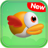 Flappy Cartoon - Yellow Flying Bird
