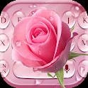 Pink Rose Water Drop Keyboard icon