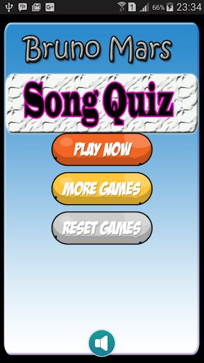 New Quiz Of Bruno Mars lyric