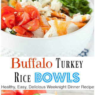 Healthy Buffalo Turkey Rice Bowls
