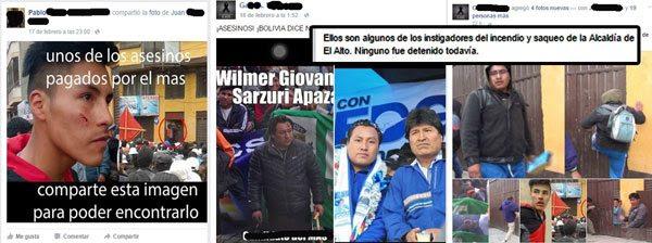 Buscan a responsables de quema de Alcaldía de El Alto por redes sociales