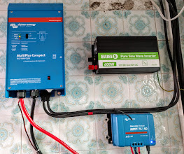 Photo: New Victron Energy MultiPlus 12/1200 Inverter/Charger installed by the electrician