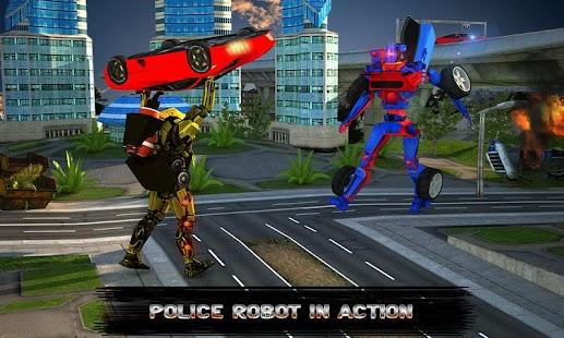 Police Robot Car Simulator - náhled