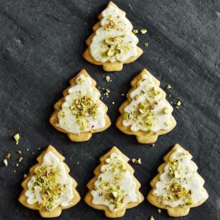 Olive Oil Sugar Cookies with Pistachio Glaze.