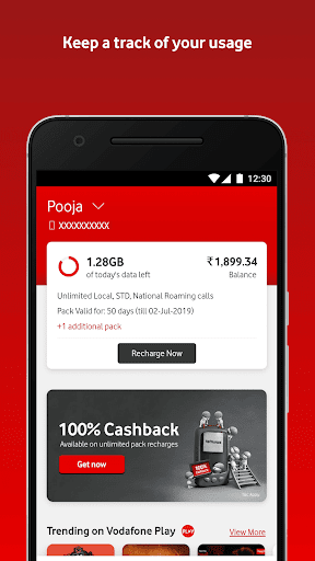 MyVodafone (India) - Online Recharge & Pay Bills 8.0.2.0 screenshots 1