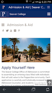 Pepperdine University- screenshot thumbnail