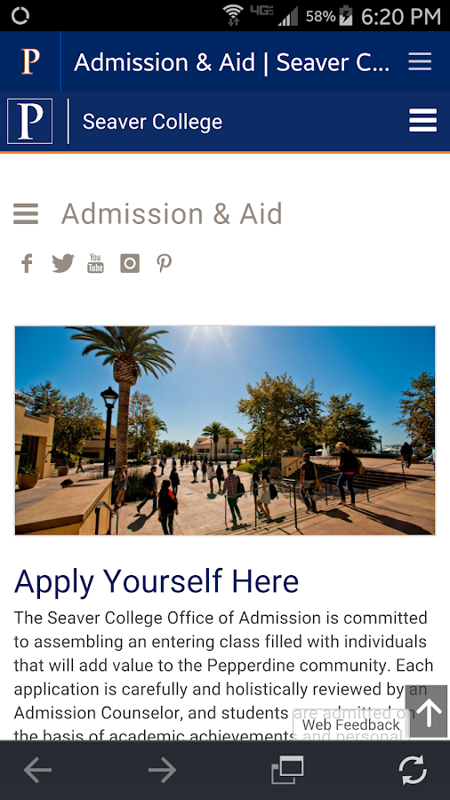 Pepperdine University- screenshot