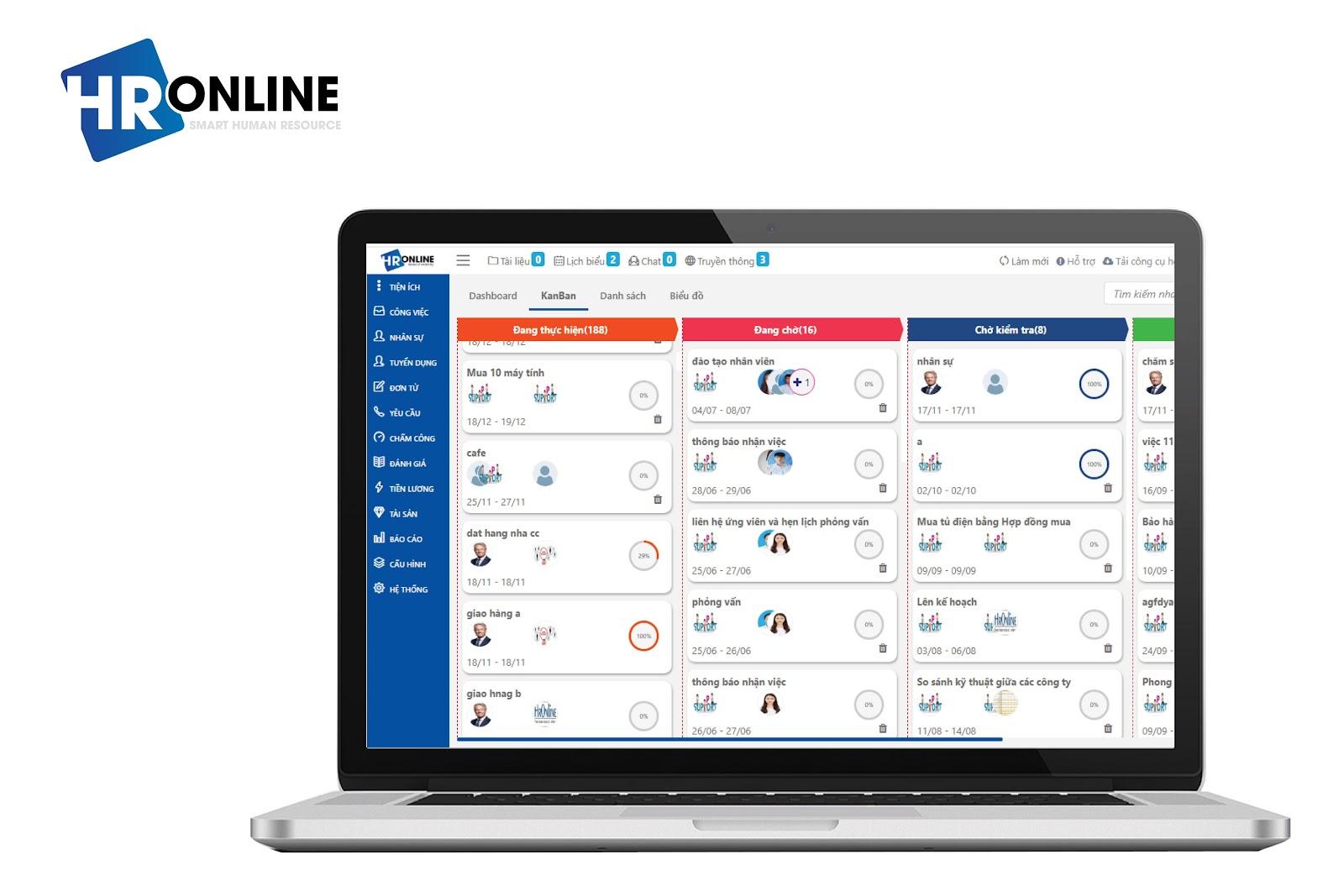 Phần mềm HrOnline giúp bạn giải quyết công việc nhanh chóng