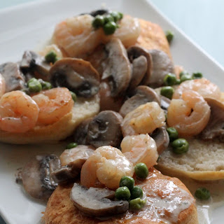 Creamy Shrimp with Mushrooms and Peas