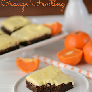 The Best Orange Frosted Brownies