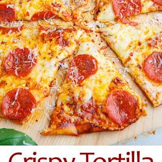 Crispy Tortilla Skillet Pizza.