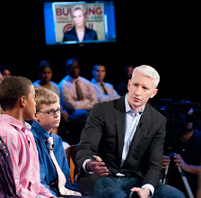 """Photo: Anderson Cooper 360° Town Hall """"Bullying: It Stops Here"""" to air October 9, 2011. Hosted at Rutgers, the state university of NJ.Please credit photographs Lorenzo Bevilaqua/CNN"""