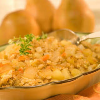 Sauteed Pear & Apple Stuffing.