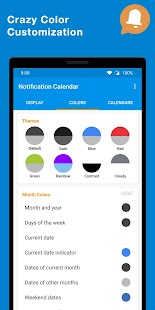 Notification Calendar Screenshot