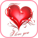 Romantic love messages icon