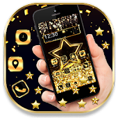 Golden Alluring Star Wallpapers Theme