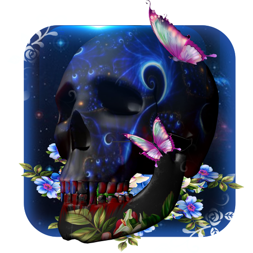 3D galaxy Skull butterfly theme file APK for Gaming PC/PS3/PS4 Smart TV