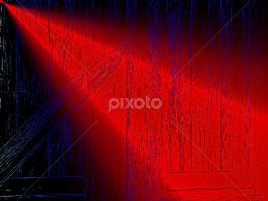 red light by Edward Gold - Digital Art Things ( lumber background, blue, shining, contrast, black, red light, shining light,  )
