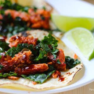 BBQ Salmon & Kale Tacos.