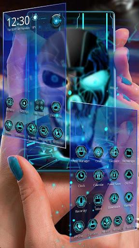 Neon Tech Evil Skull 3D Theme Apk apps 2