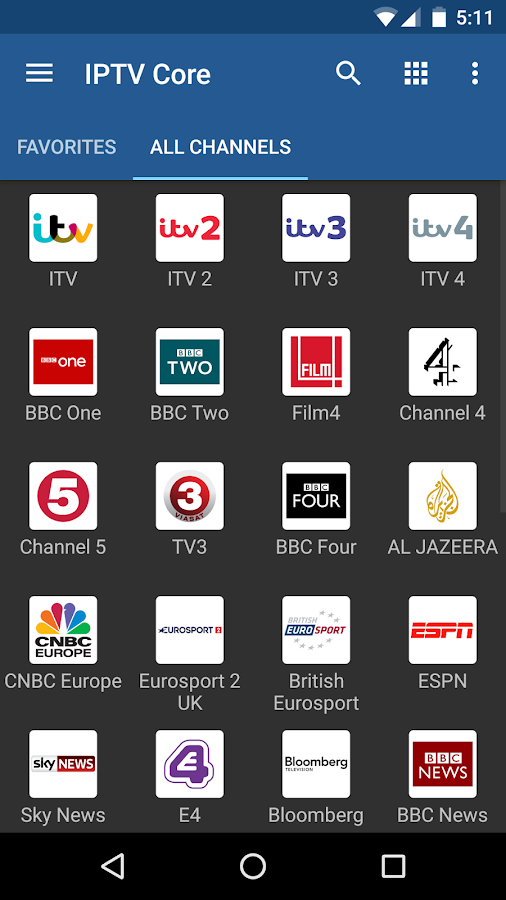 IPTV Core- screenshot
