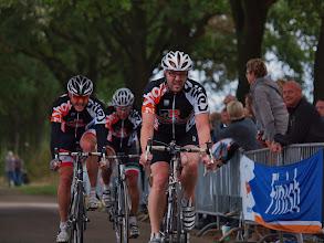 Photo: Finish van de diverse teams in de derde manche, met hier het team Bikeshop Stefan Kluytmans