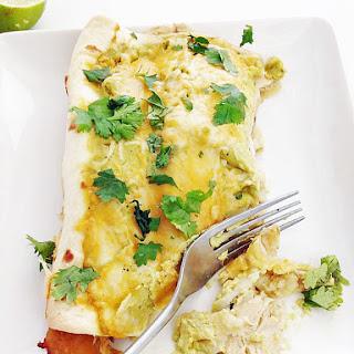 Slow Cooker Chicken Verde Enchilada.