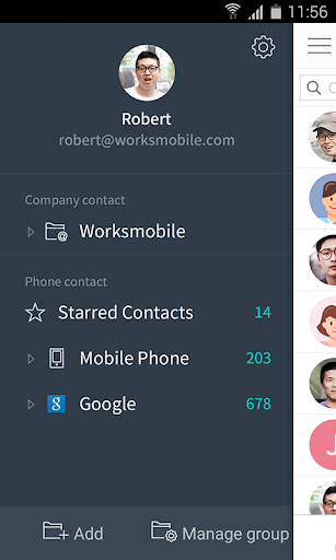 Works Mobile Contacts