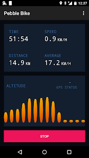 JayPS for Pebble - Bike GPS Screenshot