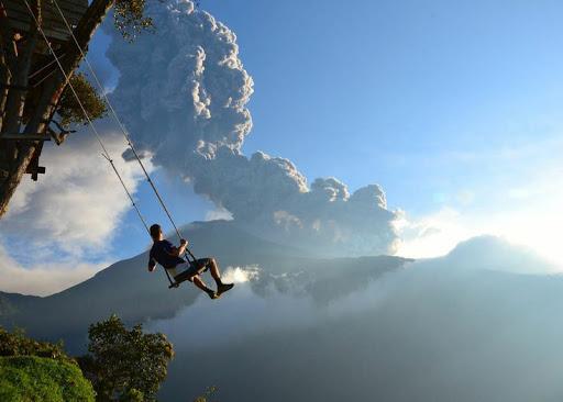 Ecuador-Swing - Swing at the End of the World in Banos, Ecuador.