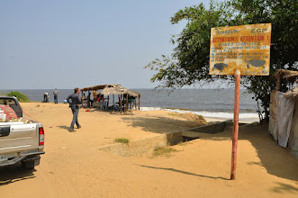 Photo: the only small piece of the DRC coast