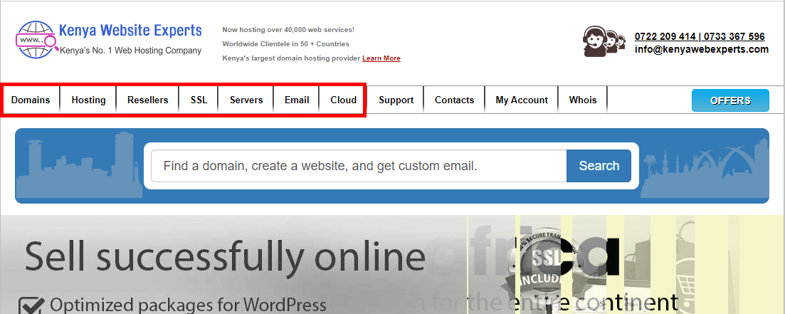 Kenya Web Experts services