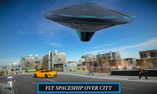 Code Triche Volant UFO Simulateur Spaceship Attaque Terre APK MOD screenshots 5