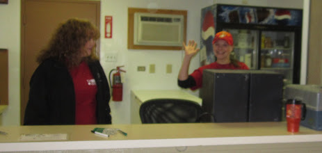 Photo: Anna Sourile from Run 4 Vets saying Hi, greeting everyone with a friendly Hi