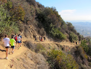 Photo: More foot traffic on Garcia Trail. Notice the rich, mature vegetation. In 16 days it will all be incinerated.