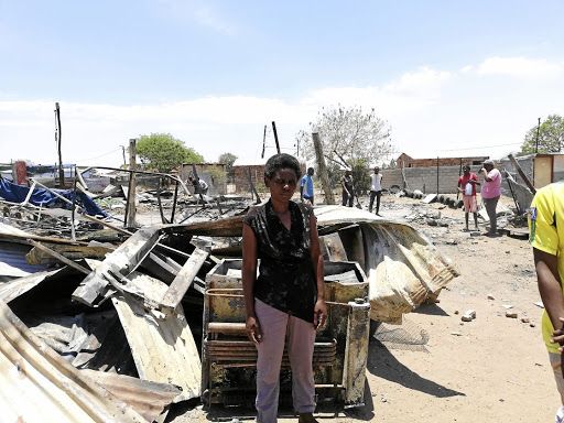 Woman loses her shack in petrol-bomb attack