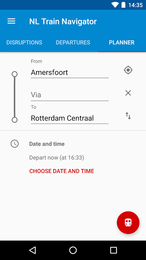 NL Train Navigator- screenshot