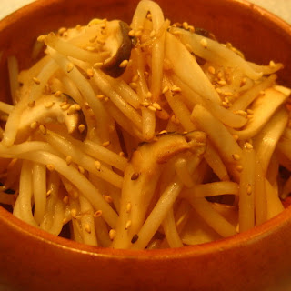 Bean Sprout & King Oyster Mushroom Lemon Stir Fry