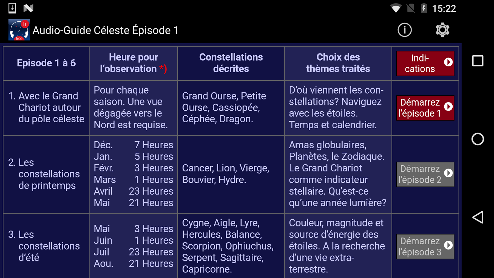 Audio-Guide Céleste Épisode 1- screenshot