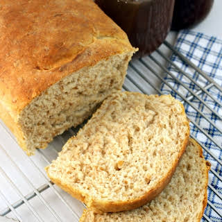 Perfect Homemade Wheat Sandwich Bread.