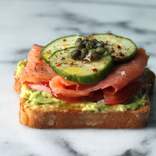 Smoked Salmon & Smashed Avocado Tartines Recipe
